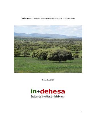 Dehesas Privadas. Catálogo de dehesas privadas ejemplares de Extremadura